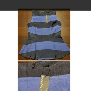 NWT Banana Republic structured top. Size 6 blue